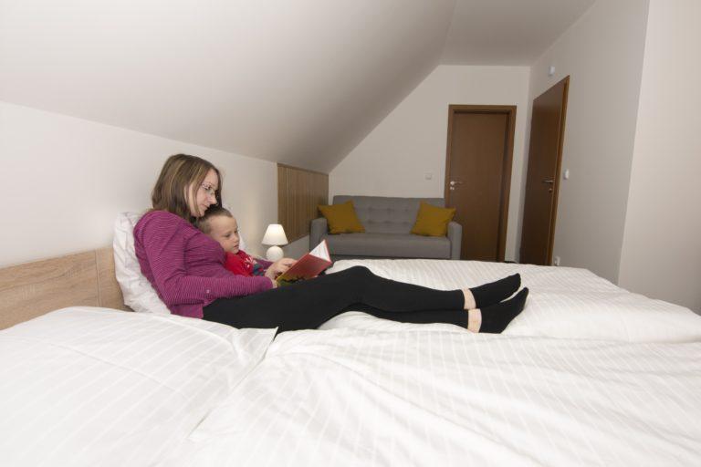 2 – lůžkový pokoj se sociálním zařízením a přistýlkou